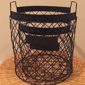 Magnolia Home Set of two nesting baskets.